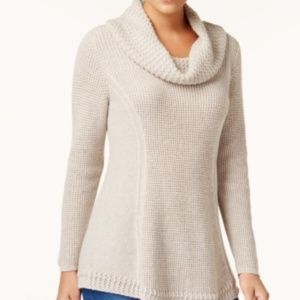 [105]Style & Co Cowl-Neck Tunic Sweater